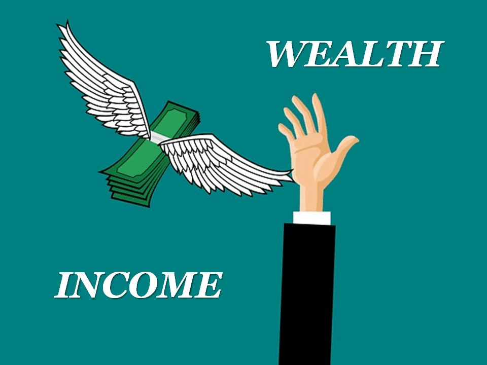 Difference between income and wealth